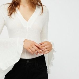 Free People So Dramatic Bell Sleeve Top